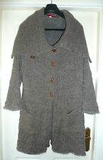Amazing Dorothee BisTextured Wool Cardigan/Coat Size12 to16 Cost NWOT over £550