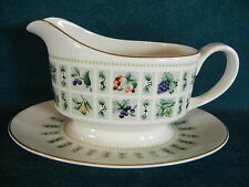 Royal Doulton Tapestry TC1024 Gravy Boat with Attached Underplate