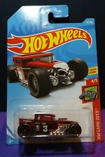 2019 Hot Wheels BONE SHAKER in RED- HW GAME OVER 4/5 Long Card.