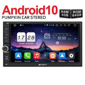 PUMPKIN Android 10.0 Autoradio 2 DIN GPS Navigazione 4GB 64GB Bluetooth Wifi DAB