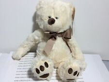 JESSE WHITE TEDDY BEAR PLUSH GANZ SOFT HUGGABLE BEAR NEW WITH TAGS SHIPS NOW!!