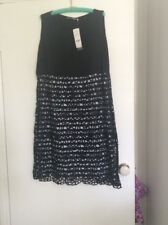 Milllers Size 20 Black And White Dress With Lace Overlay. Size 20 Nwts
