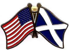 Lot Of 3 Scotland Cross Friendship Flag Lapel Pins - Scotland Crossed Flag Pin