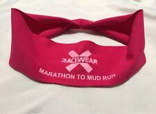 "X Racewear ""MARATHON TO MUD RUN"" Clima-Tec Headband Pink"