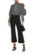 NWT $1.4K ELLERY Angel Face Shirred Ruffle Sleeve Cotton Shirt (AU 6)/S