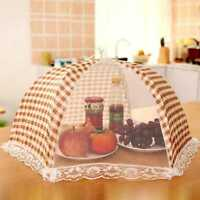 Foldable Food Umbrella Cover Fly Mosquito Mesh t Kitchen Picnic BBQ UseA;,