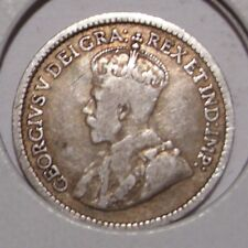 1913 Canada 5 Cents Sterling Silver Coin , VF
