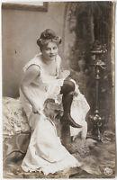 VINT.1900s German semi- NUDE undressing, marked NPG