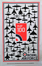 Royal Air Force RAF Centenary 100 Years Galley Cloth / Fabric Poster / Tea Towel