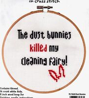 Dimensions Counted Cross Stitch Kit Say It Dust Bunnies Cleaning Fairy Funny