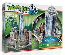 3D Puzzle - New York - Manhattan - World Trade, 875 Teile, Amerika, Wrebbit
