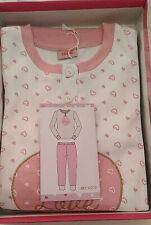 pigiama bimba IRGE cotone caldo colore pink/cream Tg 5-6 anni art IK 009