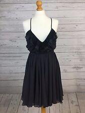 Lipsy London Women's Sun Dress - UK 10 - Black - Prom - Evening Wear - Party UK