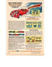 1964 MARX ELECTRIC ROAD RACING  ~  ORIGINAL SMALLER (6X9) PRINT AD