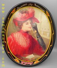 Coca Cola 1908 Calendar Lady Tray