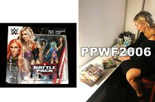 Wwe Charlotte Flair Hand Signed Autographed Toy Action Figure With Proof And Coa