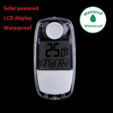 Solar Power Window Greenhouse Indoor Home Digital LCD Thermometer NI5L WR