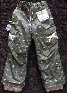 686 Girls Smarty Crown Quilt with Print Ski Snowboard Pants Avocado Youth MEDIUM