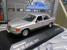 MERCEDES BENZ S Klasse W126 500 SE 500SE silber 1979 IXO White Box 1:43