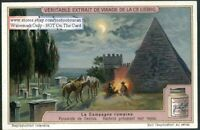 Cowboys Cooking By The Pyramid Of Cestius 1920s Trade Ad Card