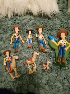 Disney pixar Toy Story Woody And Bullseye Figures bundle