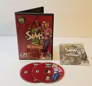 Sims 2: Seasons PC CD-Rom 2007 windows 2 disc set expansion pack addon