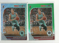 lot of 2 2019/20 Hoops Premium Duncan Robinson Rookie Cards green & Mojo prizm