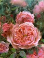 original oil painting antique look rose garden flower still life 1 of a kind art