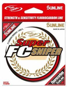 #6 Sunline Super FC Sniper Clear Fluorocarbon Fishing Line 200 Yard Spool