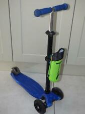 Maxi Micro Kick scooter in black & blue, with drinks bag. Will post