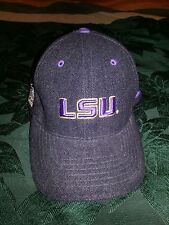 LSU Tigers Official NCAA One Fit Wool Hat Cap by Colosseum RN 114166 NWOT