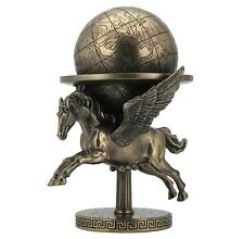 "8"" Pegasus Carrying The World Greek Mythology Roman Decor Statue Flying Horse"
