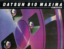 Nissan Datsun 810 Maxima 1981 USA Market Sales Brochure Sedan Wagon Bluebird