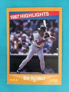 Don Mattingly Piece Of Authentic Single Baseball Cards For Sale Ebay