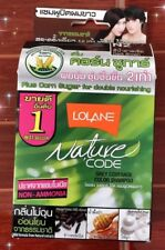 2 x Hair Color Permanent Lolane Nature Code N 2 Dark Brown Color Shampoo 10 g