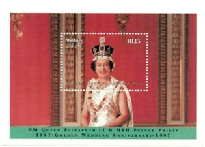 VINTAGE CLASSICS - Maldives 2243 - Elizabeth II Wedding Anniversary - S/S - MNH