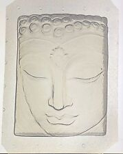 "Flexible Resin Orgone Orgonite Mold Buddha Mould 5"" x 3.75"" x 1"" Deep"