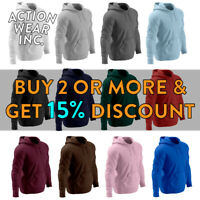 HI MENS WOMENS UNISEX PLAIN PULLOVER HOODIE CASUAL HOODED SWEATSHIRT ACTIVE WARM