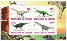Burundi - Dinosaurs - 4 Stamp Sheet - 2J-079