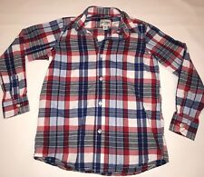 The Children's Place Long Sleeve Button Up Shirt Boys M 7 8 Red White Blue Plaid
