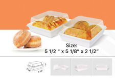 Clear Bakery Boxes w/ Lids | for Donut/Bread/Cookie Gift Party | pack of 12