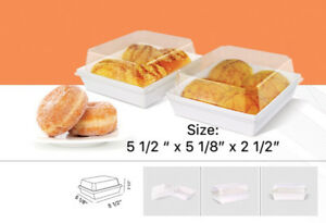 Clear Bakery Boxes w/ Lids   for Donut/Bread/Cookie Gift Party   pack of 12