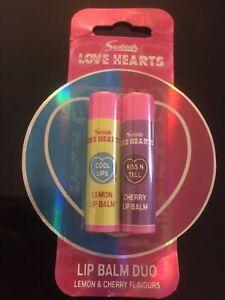 Swizzels Love Hearts Lip Balm Duo Lemon & Cherry