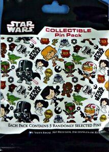 Star Wars Cuties MYSTERY Bag PIN PACK Disney Park Pins - SEALED NEW