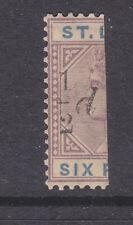 St Lucia 1891 Sg 54e sloping serif MH