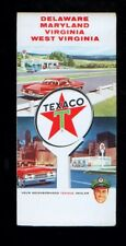 1960's Texaco Delaware, Maryland & West Virginia foldout map
