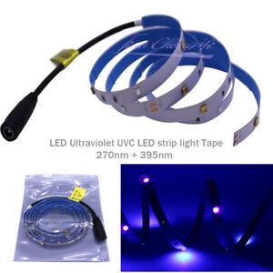 DC12V 3535 LED strip  Ultraviolet  Lamp Strip Home UVC+UV 270nm+395nm light Tape