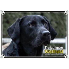 Hundeschild schwarzer Labrador Retriever Metallplatte in TOP Qualität