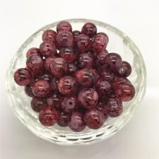 New Hot 6mm 50 Pcs Round Pearl Loose Beads Double Colors Glass Jewelry Making#32