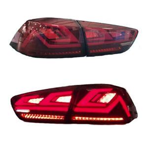 Red LED Tail Lights For 2008-2017 Mitsubishi Lancer EVO X Start Up Animation